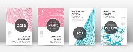 Cover page design template. Modern brochure layout. Creative trendy abstract cover page. Pink and blue grunge texture background. Appealing poster.
