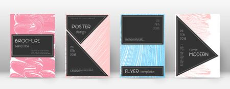 Cover page design template. Black brochure layout. Beautiful trendy abstract cover page. Pink and blue grunge texture background. Amusing poster.