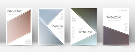 Flyer layout. Triangle divine template for Brochure, Annual Report, Magazine, Poster, Corporate Presentation, Portfolio, Flyer. Bewitching color transition cover page.