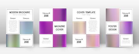 Flyer layout. Business appealing template for Brochure, Annual Report, Magazine, Poster, Corporate Presentation, Portfolio, Flyer. Adorable color gradients cover page.