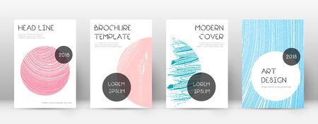 Cover page design template. Trendy brochure layout. Classic trendy abstract cover page. Pink and blue grunge texture background. Marvelous poster.