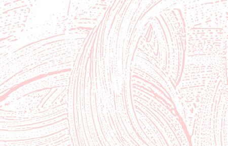 Grunge texture. Distress pink rough trace. Fine background. Noise dirty grunge texture. Ravishing artistic surface. Vector illustration.