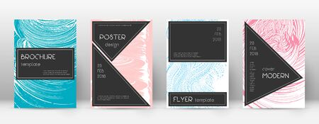 Cover page design template. Black brochure layout. Beautiful trendy abstract cover page. Pink and blue grunge texture background. Attractive poster. 向量圖像