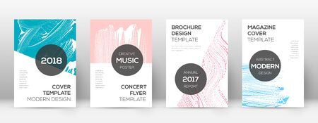 Cover page design template. Modern brochure layout. Cool trendy abstract cover page. Pink and blue grunge texture background. Bold poster.