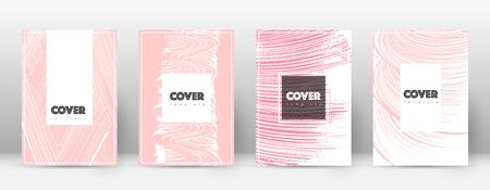 Cover page design template. Hipster brochure layout. Captivating trendy abstract cover page. Pink and blue grunge texture background. Appealing poster.
