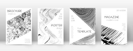 Cover page design template. Triangle brochure layout. Comely trendy abstract cover page. Soap invert grunge texture background. Bold poster.