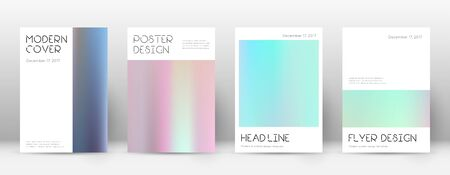 Flyer layout. Minimal worthy template for Brochure, Annual Report, Magazine, Poster, Corporate Presentation, Portfolio, Flyer. Appealing pastel hologram cover page.