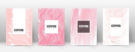 Cover page design template. Hipster brochure layout. Brilliant trendy abstract cover page. Pink and blue grunge texture background. Popular poster.