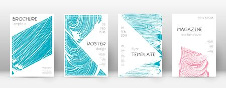 Cover page design template. Triangle brochure layout. Classy trendy abstract cover page. Pink and blue grunge texture background. Lively poster.