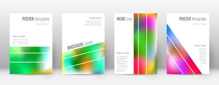 Flyer layout. Geometric breathtaking template for Brochure, Annual Report, Magazine, Poster, Corporate Presentation, Portfolio, Flyer. Alluring colorful cover page.  イラスト・ベクター素材