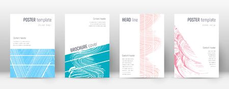Cover page design template. Geometric brochure layout. Bold trendy abstract cover page. Pink and blue grunge texture background. Fine poster.