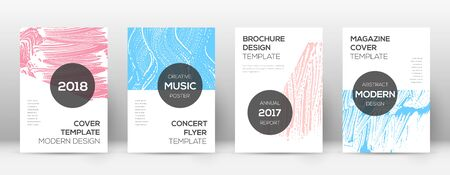 Cover page design template. Modern brochure layout. Cool trendy abstract cover page. Pink and blue grunge texture background. Worthy poster.