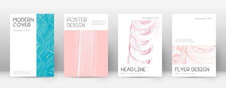 Cover page design template. Minimal brochure layout. Charming trendy abstract cover page. Pink and blue grunge texture background. Dazzling poster.