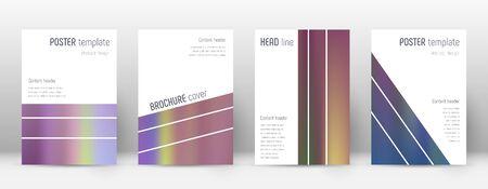 Flyer layout. Geometric impressive template for Brochure, Annual Report, Magazine, Poster, Corporate Presentation, Portfolio, Flyer. Alive bright hologram cover page. Illusztráció