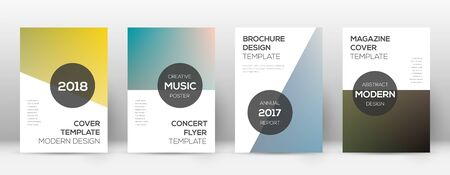 Flyer layout. Modern fabulous template for Brochure, Annual Report, Magazine, Poster, Corporate Presentation, Portfolio, Flyer. Attractive color transition cover page. Illusztráció
