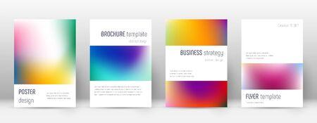 Flyer layout. Minimalistic authentic template for Brochure, Annual Report, Magazine, Poster, Corporate Presentation, Portfolio, Flyer. Artistic bright cover page. Illusztráció