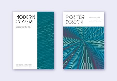 Minimal cover design template set. Red white blue abstract lines on dark background. Decent cover design. Positive catalog, poster, book template etc.