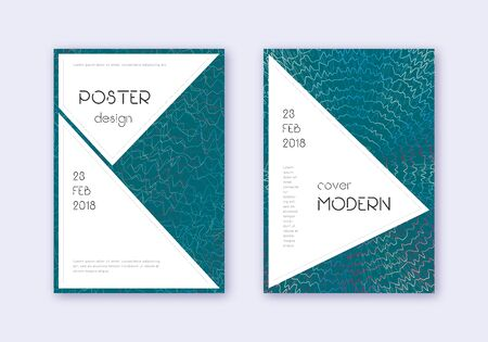 Stylish cover design template set. Red white blue abstract lines on dark background. Fascinating cover design. Cute catalog, poster, book template etc.