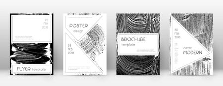 Cover page design template. Stylish brochure layout. Creative trendy abstract cover page. Black and white grunge texture background. Fabulous poster.