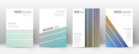 Flyer layout. Geometric stunning template for Brochure, Annual Report, Magazine, Poster, Corporate Presentation, Portfolio, Flyer. Alive color transition cover page. Illusztráció