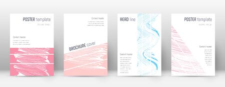 Cover page design template. Geometric brochure layout. Bold trendy abstract cover page. Pink and blue grunge texture background. Vibrant poster.