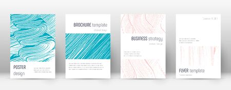 Cover page design template. Minimalistic brochure layout. Classic trendy abstract cover page. Pink and blue grunge texture background. Ravishing poster.