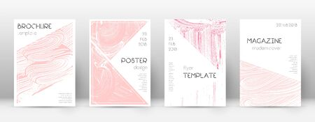 Cover page design template. Triangle brochure layout. Classy trendy abstract cover page. Pink and blue grunge texture background. Memorable poster.