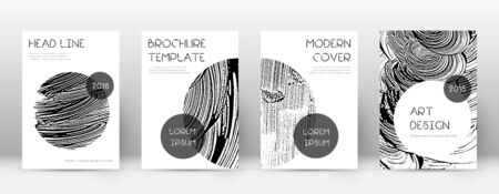 Cover page design template. Trendy brochure layout. Classic trendy abstract cover page. Soap invert grunge texture background. Uncommon poster. Illusztráció