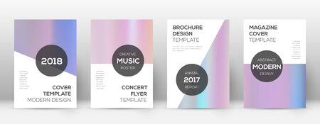 Flyer layout. Modern classy template for Brochure, Annual Report, Magazine, Poster, Corporate Presentation, Portfolio, Flyer. Authentic pastel hologram cover page. Illusztráció
