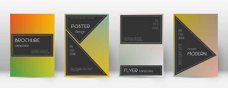 Flyer layout. Black pretty template for Brochure, Annual Report, Magazine, Poster, Corporate Presentation, Portfolio, Flyer. Actual color transition cover page.