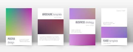 Flyer layout. Minimalistic beautiful template for Brochure, Annual Report, Magazine, Poster, Corporate Presentation, Portfolio, Flyer. Astonishing gradient cover page.