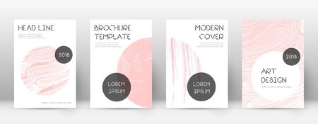 Cover page design template. Trendy brochure layout. Classic trendy abstract cover page. Pink and blue grunge texture background. Fair poster.