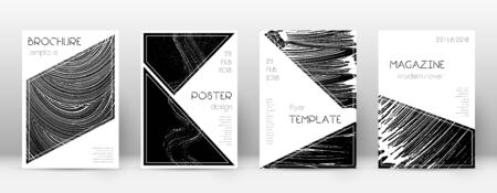 Cover page design template. Triangle brochure layout. Classy trendy abstract cover page. Black grunge texture background. Divine poster. Illusztráció