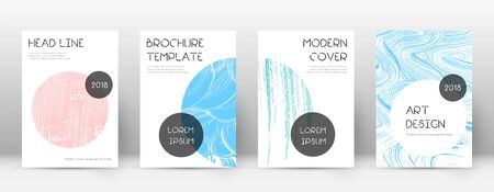 Cover page design template. Trendy brochure layout. Classic trendy abstract cover page. Pink and blue grunge texture background. Ecstatic poster.