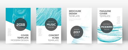 Cover page design template. Modern brochure layout. Comely trendy abstract cover page. Pink and blue grunge texture background. Rare poster.