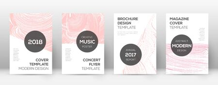 Cover page design template. Modern brochure layout. Cool trendy abstract cover page. Pink and blue grunge texture background. Dramatic poster.