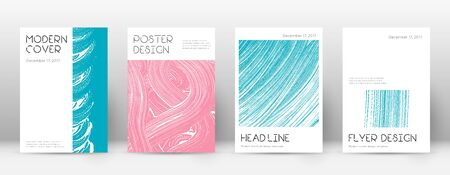 Cover page design template. Minimal brochure layout. Charming trendy abstract cover page. Pink and blue grunge texture background. Excellent poster.
