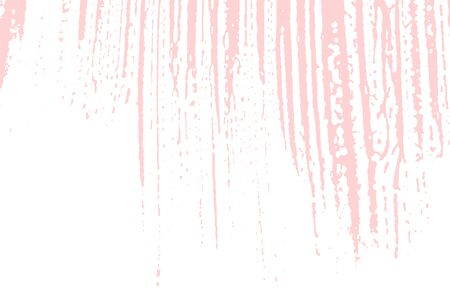 Grunge texture. Distress pink rough trace. Fetching background. Noise dirty grunge texture. Pleasing artistic surface. Vector illustration. Illusztráció