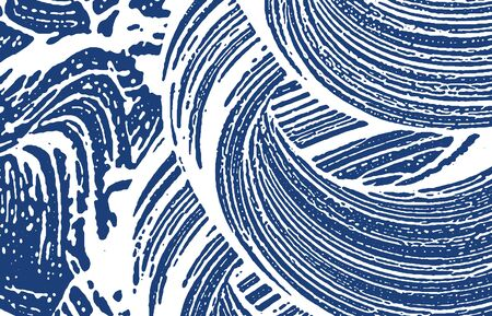 Grunge texture. Distress indigo rough trace. Emotional background. Noise dirty grunge texture. Fine artistic surface. Vector illustration.