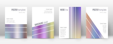 Flyer layout. Geometric popular template for Brochure, Annual Report, Magazine, Poster, Corporate Presentation, Portfolio, Flyer. Alive color gradients cover page.