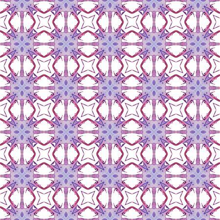 Red blue geometric seamless pattern. Hand drawn watercolor ornament. Beautiful repeating design. Delightful fabric cloth, swimwear design, wallpaper wrapping.