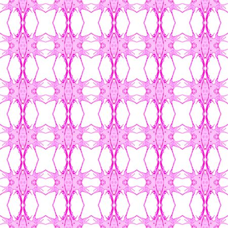 Pink geometric seamless pattern. Hand drawn watercolor ornament. Breathtaking repeating design. Gorgeous fabric cloth, swimwear design, wallpaper wrapping.