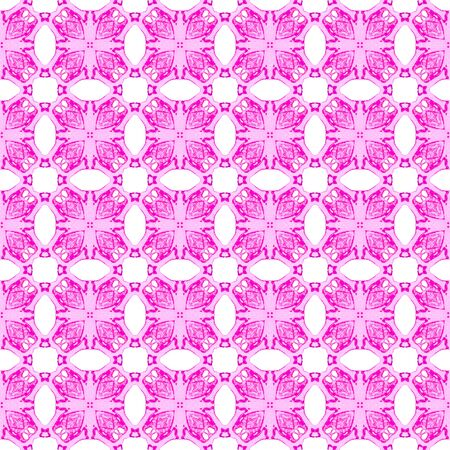 Pink geometric seamless pattern. Hand drawn watercolor ornament. Astonishing repeating design. Ecstatic fabric cloth, swimwear design, wallpaper wrapping.