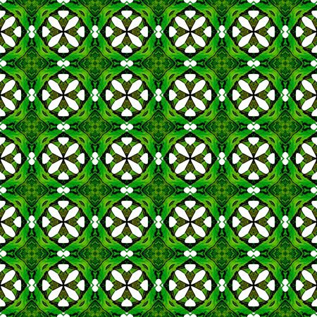 Orange green geometric seamless pattern. Hand drawn watercolor ornament. Beautiful repeating design. Positive fabric cloth, swimwear design, wallpaper wrapping.