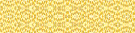 Orange Seamless Border Scroll. Geometric Watercolor Frame. Amazing Seamless Pattern. Medallion Repeated Tile. Ravishing Chevron Ribbon Ornament.