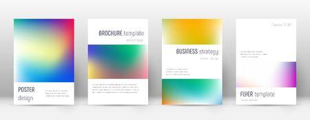 Flyer layout. Minimalistic attractive template for Brochure, Annual Report, Magazine, Poster, Corporate Presentation, Portfolio, Flyer. Artistic bright cover page.