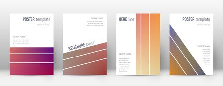 Flyer layout. Geometric excellent template for Brochure, Annual Report, Magazine, Poster, Corporate Presentation, Portfolio, Flyer. Alluring gradient cover page.
