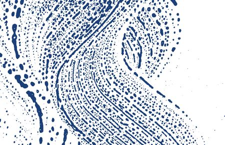 Grunge texture. Distress indigo rough trace. Eminent background. Noise dirty grunge texture. Alive artistic surface. Vector illustration. Stock fotó - 131933403