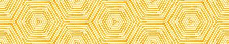 Orange Seamless Border Scroll. Geometric Watercolor Frame. Amazing Seamless Pattern. Medallion Repeated Tile. Sightly Chevron Ribbon Ornament.