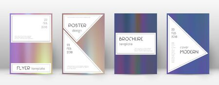 Flyer layout. Stylish incredible template for Brochure, Annual Report, Magazine, Poster, Corporate Presentation, Portfolio, Flyer. Authentic bright hologram cover page.